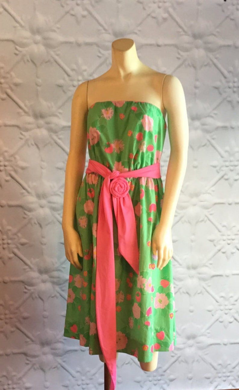 e05d7e3425b 1960s Lilly Pulitzer The Lilly Cotton Green