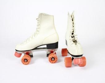 02f6686f3aa98 White leather skates   Etsy