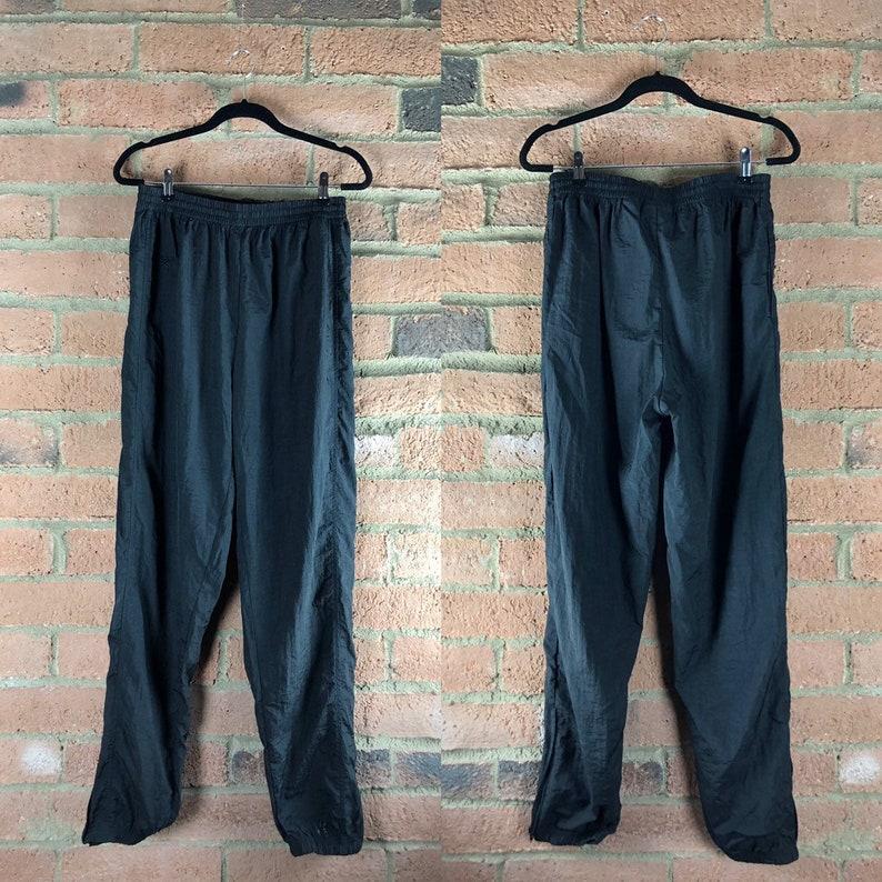 4dcba2e1c5d71 90's Reebok Black Windbreaker Sweat Pants Retro Activewear High Fashion  Athletic Chic 2k 80's Sportswear