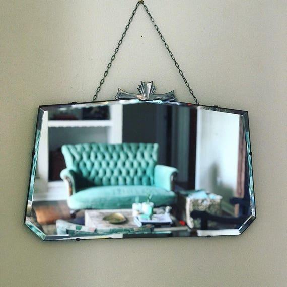 Art Deco Mirror Wall Mirror Frameless Mirror Etsy