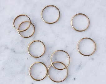 Yellow Gold Filled Stacking Ring