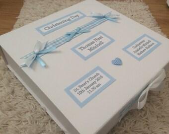 Personalised Memory Keepsake Box, Baby, Boy, Girl, Blue, Pink, Christening, New Baby, Gift, Present