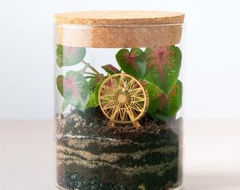 Miniature brass ferris wheel model kit