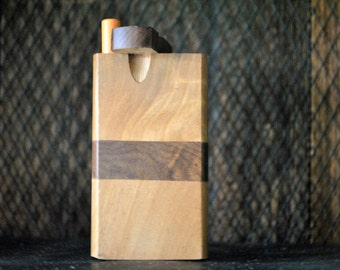 "WOOD Dugout One Hitter 4"" Stash Box"