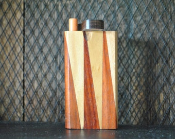 """WOOD Dugout Hand Stained one Hitter 4"""""""
