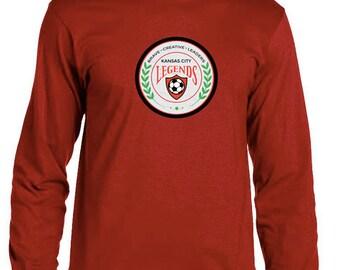 Kansas City Legends Soccer T-Shirt Long Sleeve Adult