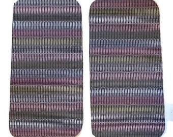 Navy Pink Stripes Burp Cloths (Set of TWO) - Striped Dots Baby Shower Gift Set- Infant Burping Rags- Breastfeeding Feeding Newborn Girls