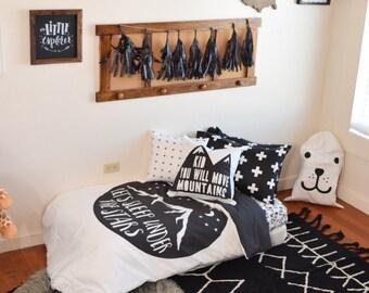 Boy Toddler Bedding Sets   Sleep Under Stars Monochrome   Toddler Duvet  Cover   Kids Bedding   Pillow Case   Kids Duvet Cover   Comforter