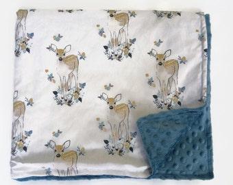 Cotton/Minky Blanket