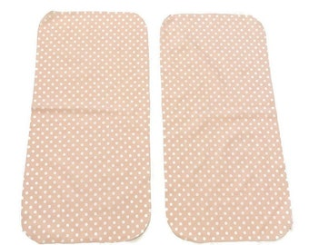 Pink Dots Burp Cloths (Set of TWO) - Girls Baby Shower Gift Set- Light Pink Infant Burping Rags- Breastfeeding Feeding Newborn Girl Dotted