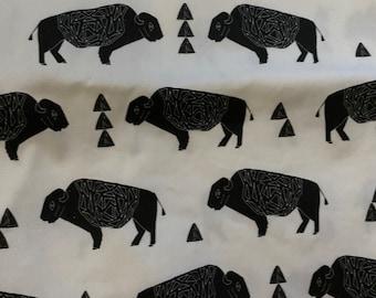 29 x 45  inch piece bison canvas fabric
