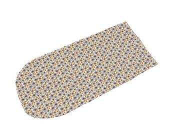 Harvest Flowers Swaddle Sack, Gold Blue SunFlowers Sleep Sack, Newborn Cocoon swaddle, Boho Newborn Photography, Hospital Outfit, Swaddle