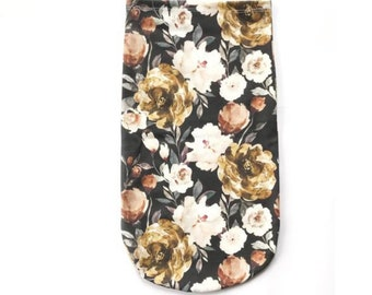 Midnight Gold Floral Swaddle Sack, Dark Rose Sleep Sack, Flowers Newborn Cocoon swaddle, Boho Rose Newborn Photography Girl Hospital Outfit