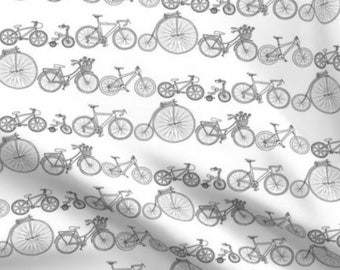 Bicycles Crib Bedding - Black White Bikes Fitted Sheet, Monochrome Changing Pad Cover - Boys Nursing Pillow Cover - Swaddle Sack Boy Blanket