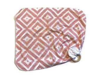 Pink Dimond Baby Lovey - Girls  Lovie Blanket - Modern Newborn Receiving Blanket- Infant Blanket Girls Pink Baby teether - Baby shower gift