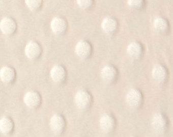 34 x 55 piece Cream  Minky dimple dot fabric