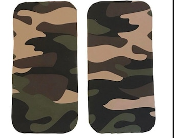 Camo Burp Cloths (Set of TWO) - Baby Shower Gift Set- Camouflage Infant Burping Rags- Army Navy Breastfeeding Feeding Newborn Neutral Gift