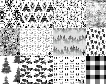 Black And White Nursery Bedding for Babies and Toddlers - Fitted Sheets - Antlers  Change Pad Cover Arrows Nursing, Aztec Monochrome Modern