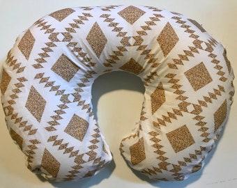 Tribal Nursing Pillow Cover - Boho Gold Nursery Cover - Bohemian Cover - Minky Breastfeeding Cover - Girls Nursery- Slipcover Southwest