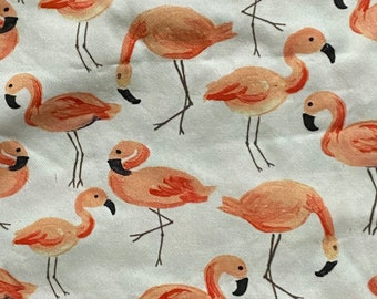 27 x 58  inch piece flamingo canvas fabric