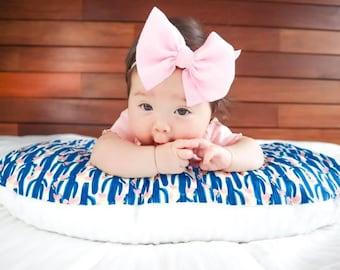 Cactus Nursing Pillow Cover- Succulent Breastfeeding Pillow- Nursing Pillow Slipcover- Minky Baby Desert Nursery Modern Pink Blue