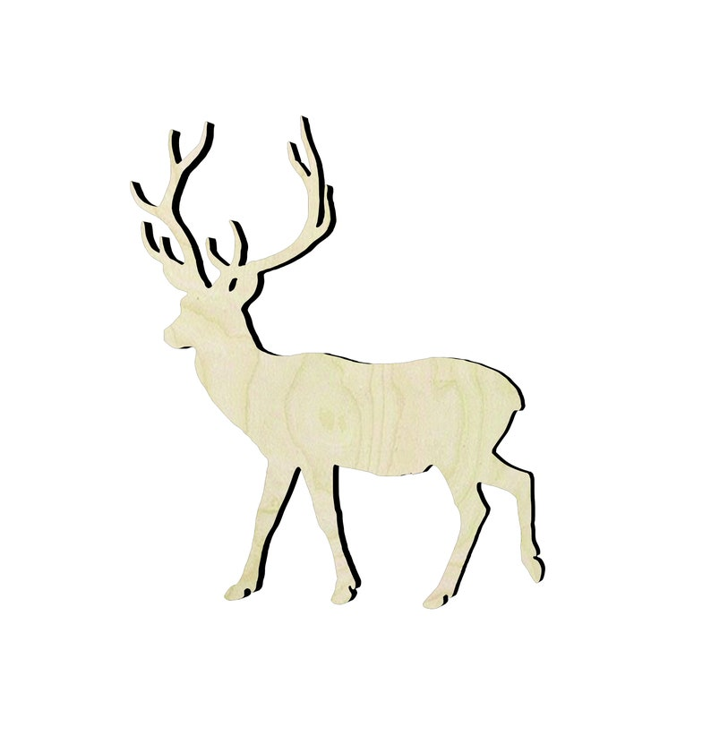 2-24 Deer Cutouts Wood Craft Supply-Sanded or unsanded