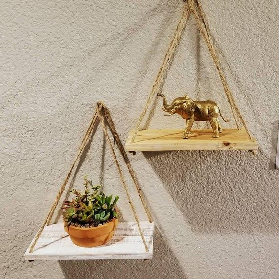 Hanging Rope Shelf