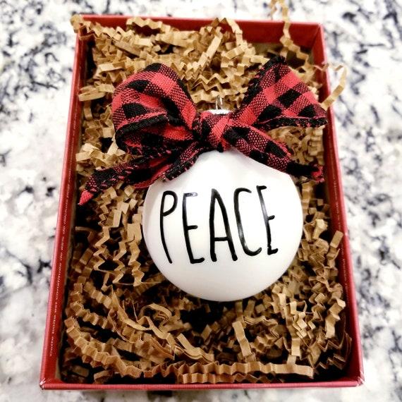 Hand Painted Rae Dunn Inspired Christmas Ornament
