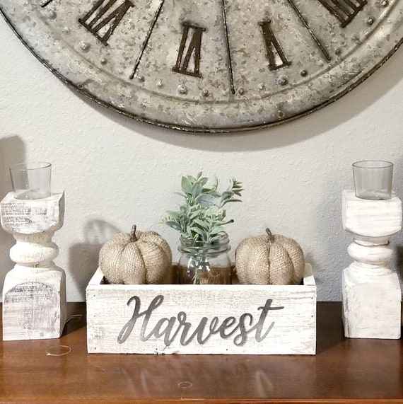 Wood Harvest Centerpiece box