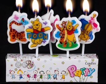 Winnie The Pooh And Friends Birthday Candles 5pcs SHF