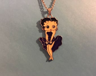 Betty Boop Necklace in Deep Purple Dress    R56