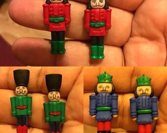 Christmas Toy Solder Stud Earrings  AH22