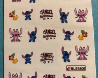 20+pcs Stitch Nail Stickers    W51