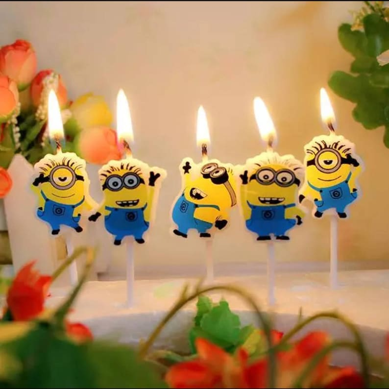 Despicable Me Minions Birthday Candles 5pcs SHF