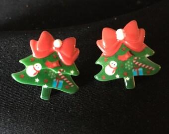 Christmas Tree Stud Earrings  E68
