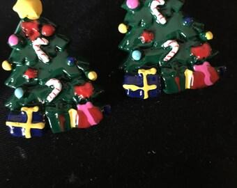 Christmas Tree Stud Earrings  E2