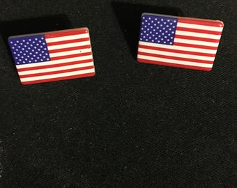 Flag Patriotic 4th of July Stud Earrings   U48