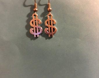 Dollar Sign  Earrings   K53