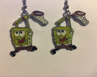 Spongebob Squarepants Earrings   Q56