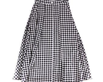 BB black gingham skirt
