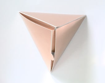 Rose Gold Gift or Favor Boxes | Set of 6 | Geometric Small Gift Boxes | Wedding Favor Boxes | Christmas Gift Boxes | Triangle Favor Box