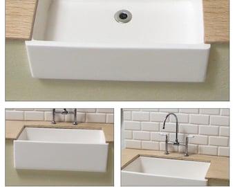 farmhouse sink (1/12 scale miniature)