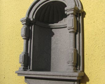 stone niche (1/12 scale miniature)