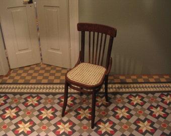 woven cane chair (1/12 miniatures)