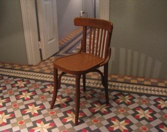 square bistro chair (1/12 miniature)
