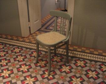 woven cane chair (1/12 miniature)