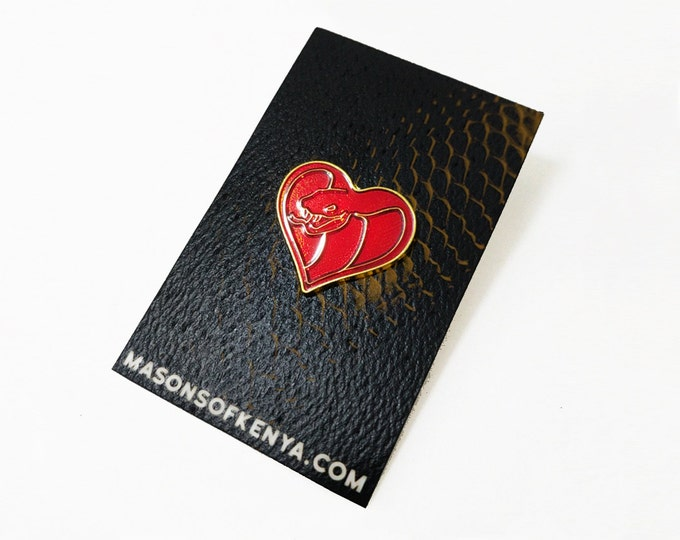 Love Cobra Enamel Pin