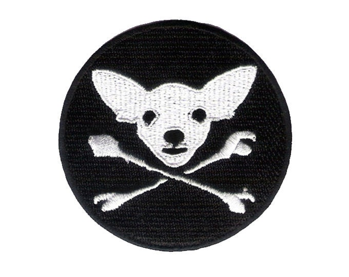 Chihuahua cross bones patch