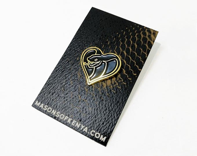 Love Cobra Black Edition Enamel Pin