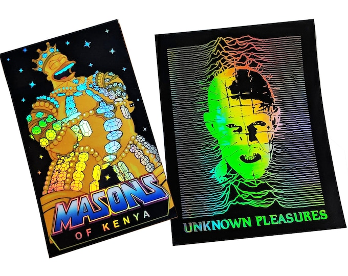 Pinhead Pleasures/King Homer Hologram sticker set
